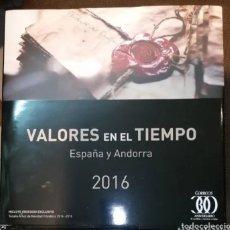 Sellos: LIBRO OFICIAL DE CORREOS VALORES EN EL TIEMPO 2016 ESPAÑA Y ANDORRA. Lote 237432655