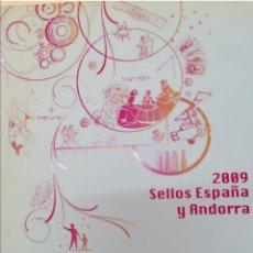 Sellos: LIBRO OFICIAL DE CORREOS VALORES EN EL TIEMPO 2009 ESPAÑA Y ANDORRA. Lote 237432785
