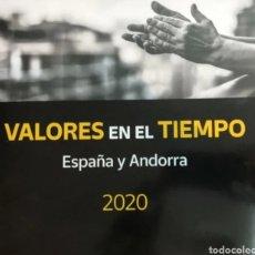 Sellos: LIBRO OFICIAL DE CORREOS VALORES EN EL TIEMPO 2020 ESPAÑA Y ANDORRA. Lote 237433000