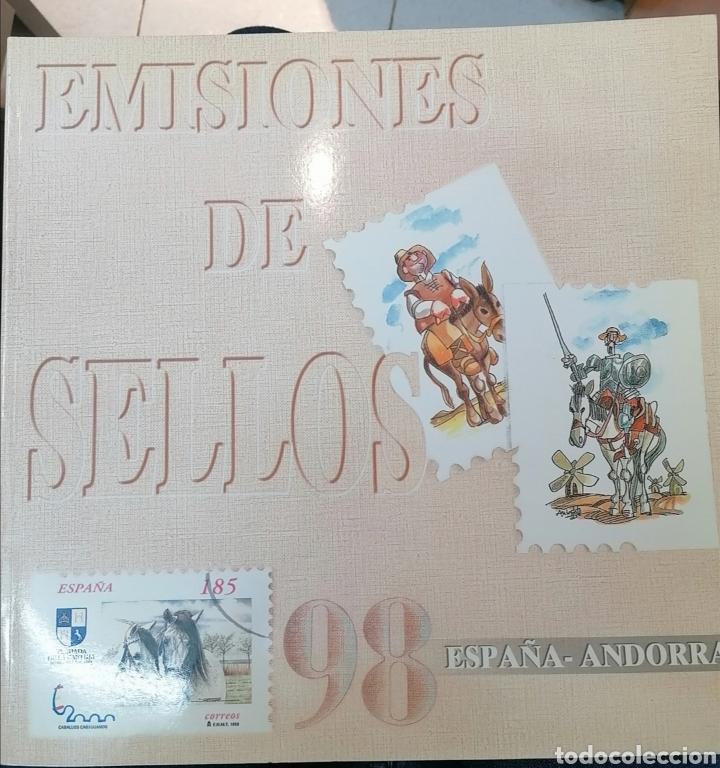 LIBRO OFICIAL DE CORREOS 1998 ESPAÑA Y ANDORRA - COMPLETO CON SELLOS Y FILOESTUCHES (Sellos - Material Filatélico - Álbumes de Sellos)