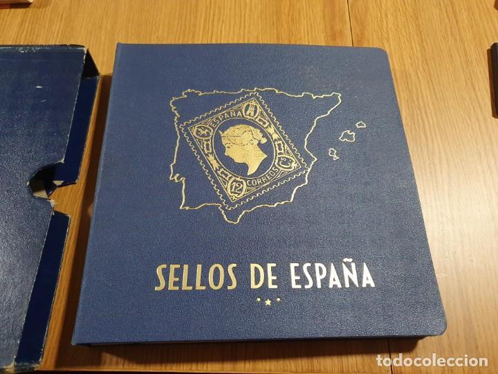GRAN ALBUM SELLOS ESPAÑA - 1850 A 1945 - PHILOS - INCOMPLETO - EXCELENTE ESTADO (Sellos - Material Filatélico - Álbumes de Sellos)
