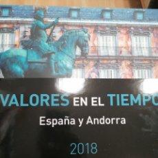 Sellos: LIBRO OFICIAL DE CORREOS VALORES EN EL TIEMPO 2018 ESPAÑA Y ANDORRA. Lote 254906605
