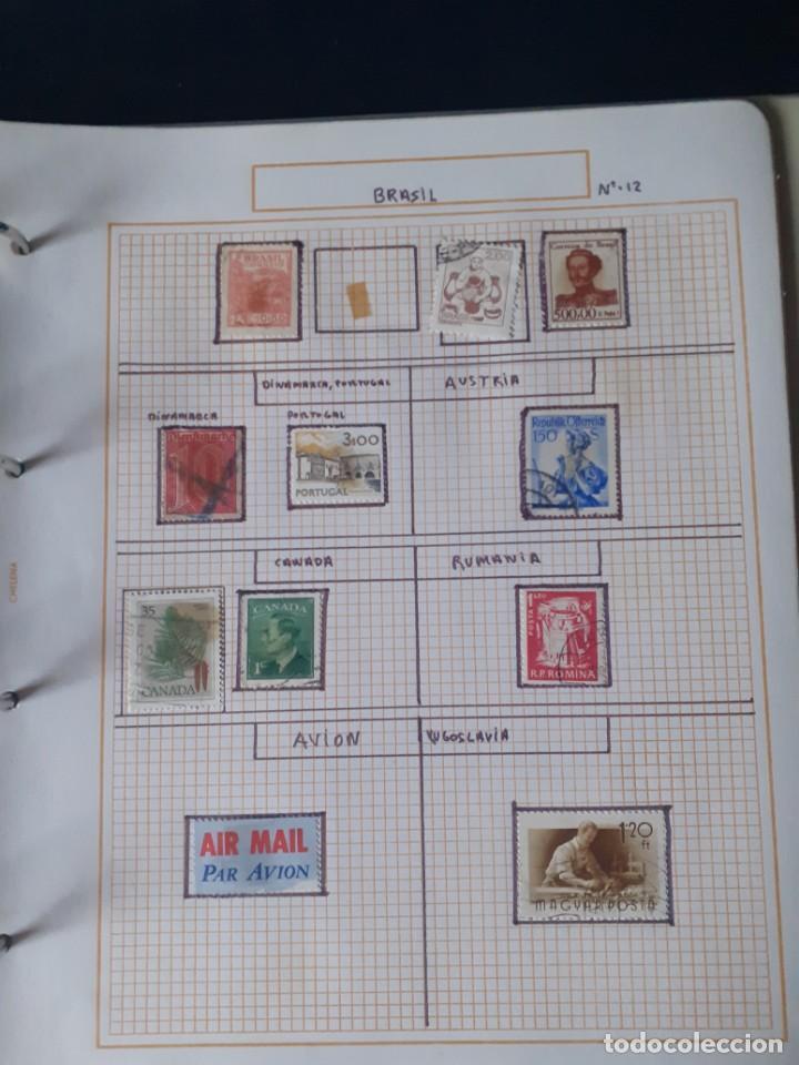 Sellos: album antiguo sellos anillas con 17 hojas vacias, los sellos se están despegando. - Foto 3 - 255603940