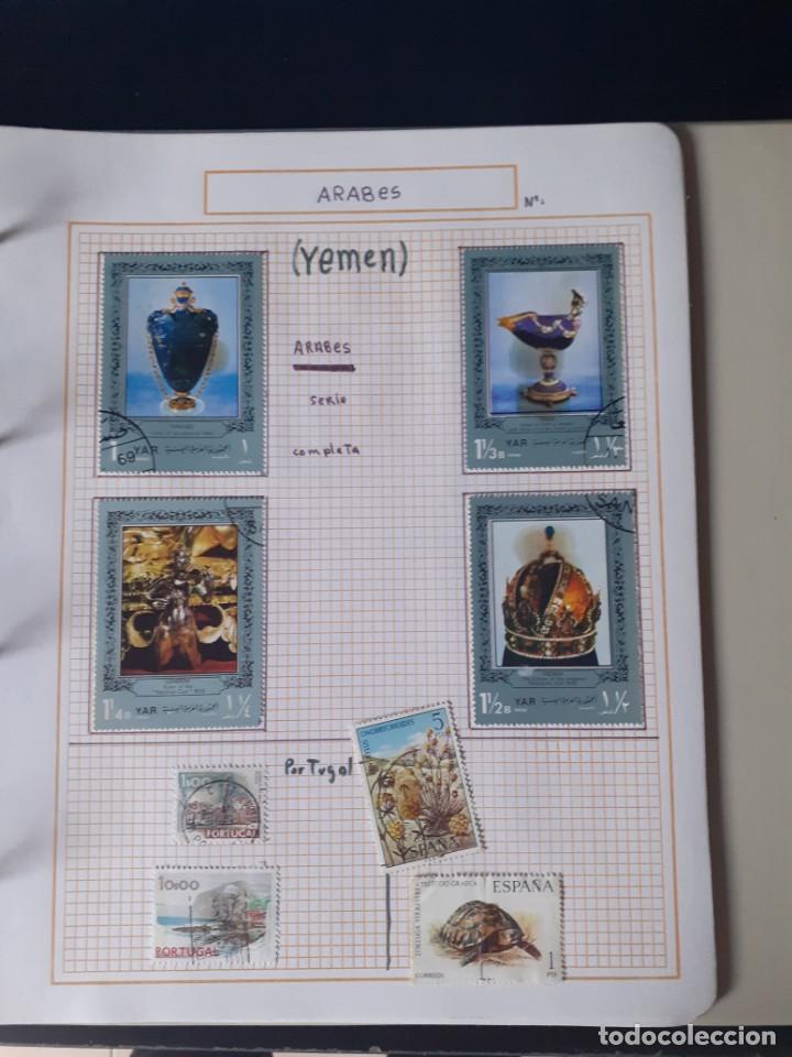 Sellos: album antiguo sellos anillas con 17 hojas vacias, los sellos se están despegando. - Foto 5 - 255603940