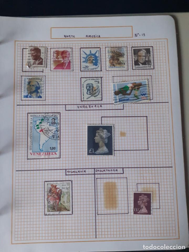 Sellos: album antiguo sellos anillas con 17 hojas vacias, los sellos se están despegando. - Foto 6 - 255603940