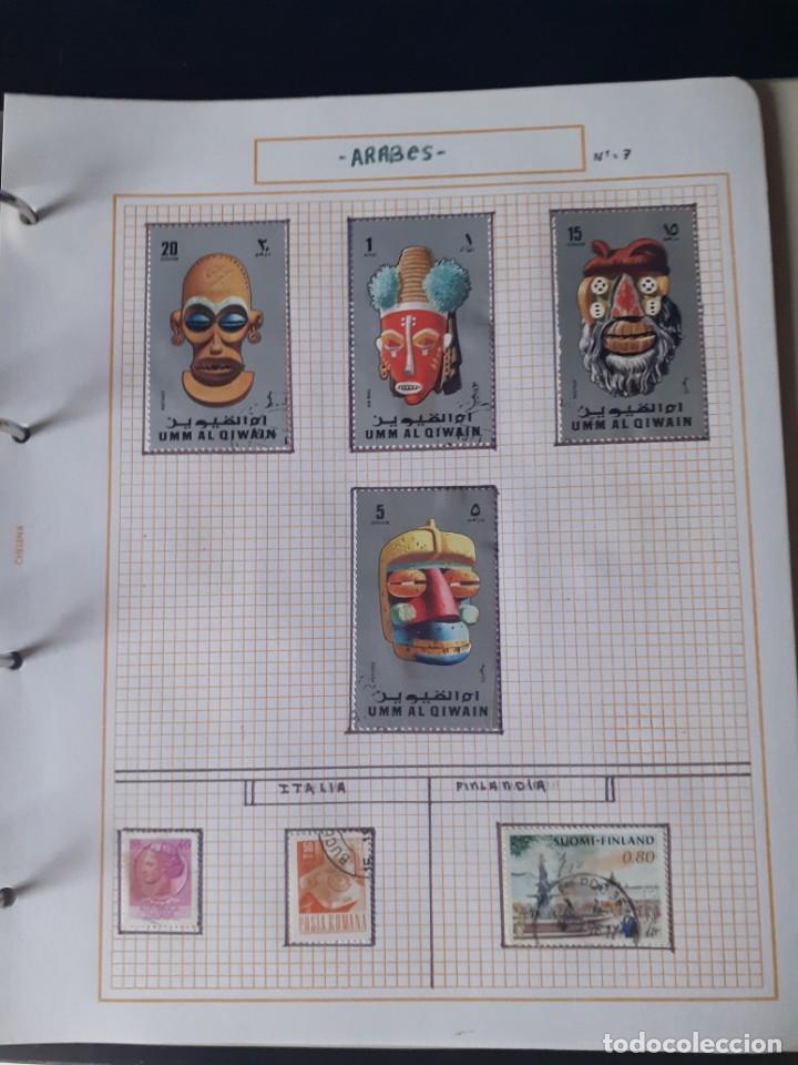 Sellos: album antiguo sellos anillas con 17 hojas vacias, los sellos se están despegando. - Foto 7 - 255603940