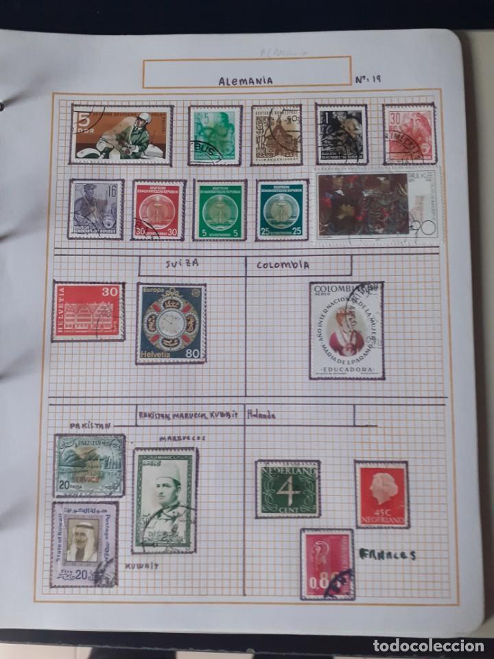 Sellos: album antiguo sellos anillas con 17 hojas vacias, los sellos se están despegando. - Foto 8 - 255603940