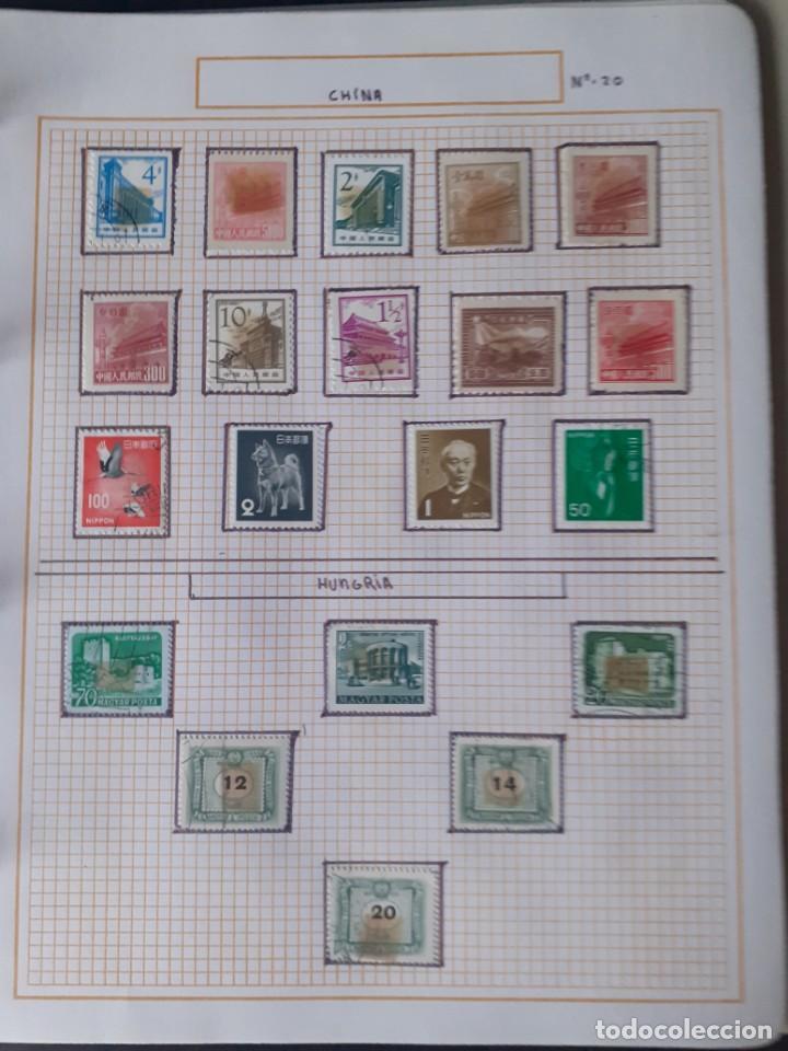 Sellos: album antiguo sellos anillas con 17 hojas vacias, los sellos se están despegando. - Foto 10 - 255603940