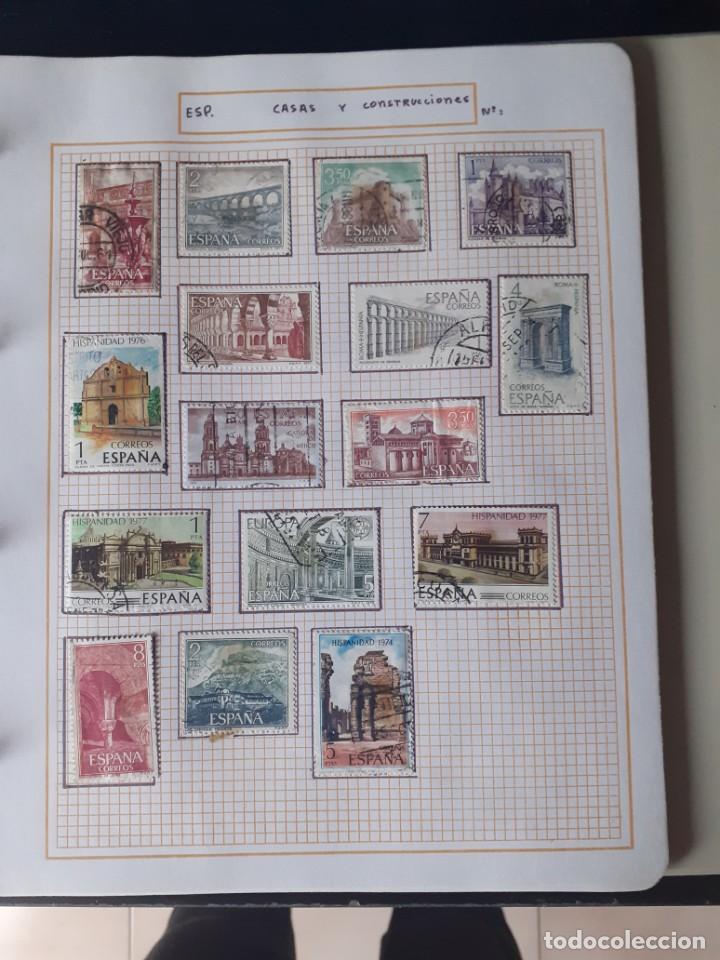 Sellos: album antiguo sellos anillas con 17 hojas vacias, los sellos se están despegando. - Foto 12 - 255603940