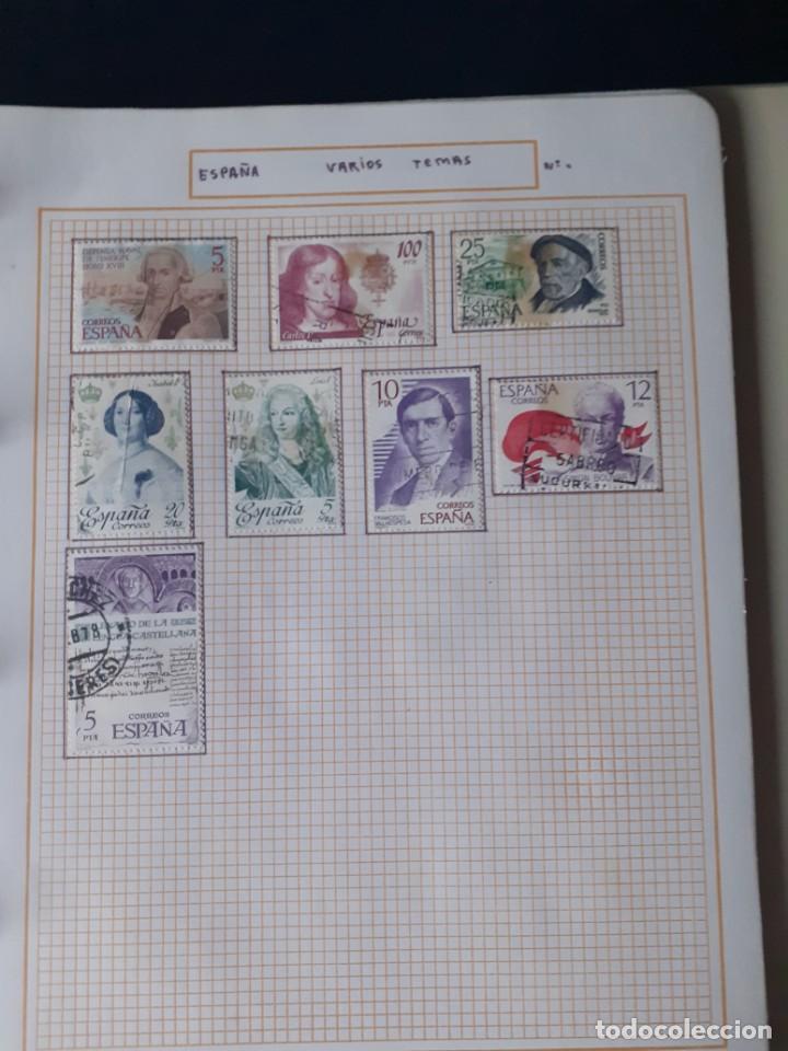 Sellos: album antiguo sellos anillas con 17 hojas vacias, los sellos se están despegando. - Foto 14 - 255603940