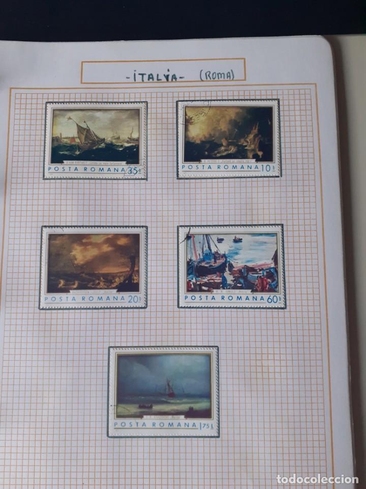 Sellos: album antiguo sellos anillas con 17 hojas vacias, los sellos se están despegando. - Foto 16 - 255603940