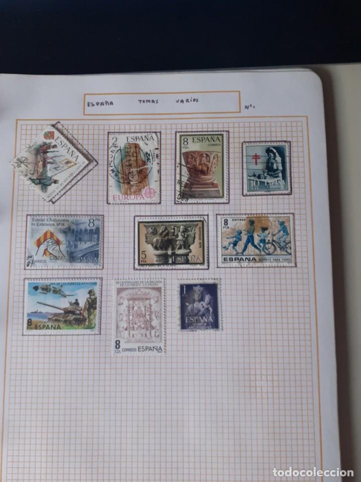 Sellos: album antiguo sellos anillas con 17 hojas vacias, los sellos se están despegando. - Foto 21 - 255603940