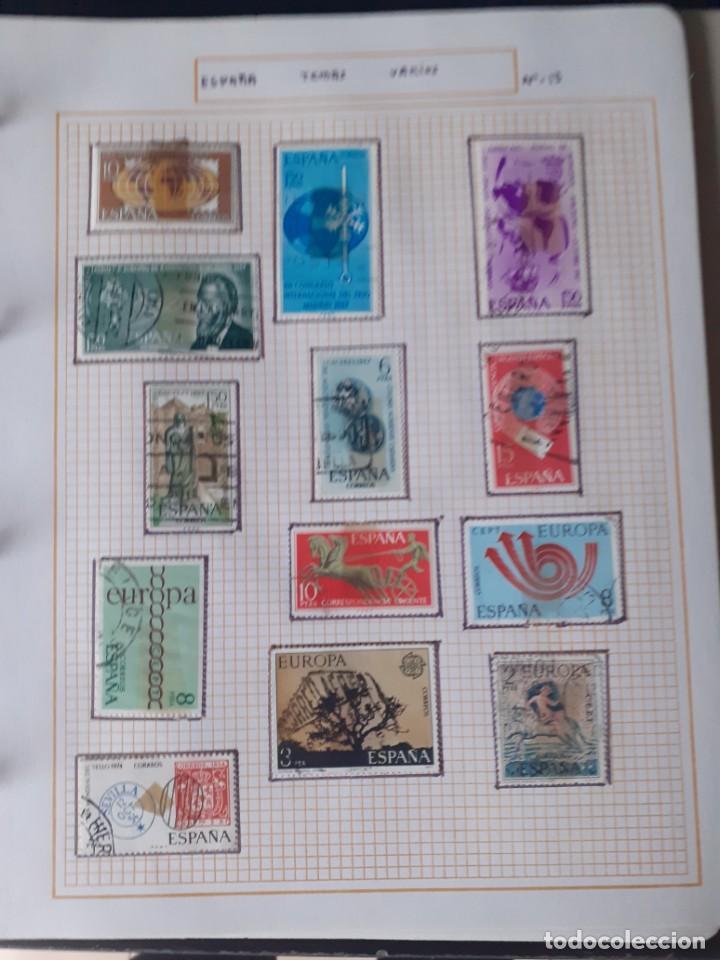 Sellos: album antiguo sellos anillas con 17 hojas vacias, los sellos se están despegando. - Foto 22 - 255603940