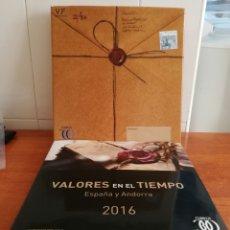 Sellos: LIBRO OFICIAL DE CORREOS AÑO 2016 SIN SELLOS CON TODOS LOS FILOESTUCHES (FOTOGRAFÍA REAL). Lote 259279825