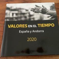 Sellos: VALORES EN EL TIEMPO 2020. LIBRO ESPAÑA Y ANDORRA SIN SELLOS PERO CON FILOESTUCHES. Lote 260099410