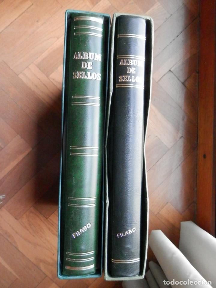 DOS ÁLBUMES FILABO BLOQUES DE 4 AÑOS 1981 A 1989 CON FILOESTUCHES Y HOJAS COMPLETOS LUJO (Sellos - Material Filatélico - Álbumes de Sellos)