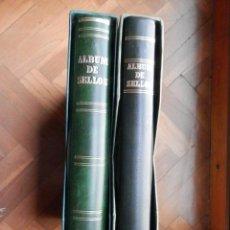 Sellos: DOS ÁLBUMES FILABO BLOQUES DE 4 AÑOS 1981 A 1989 CON FILOESTUCHES Y HOJAS COMPLETOS LUJO. Lote 277541213