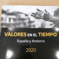 Sellos: LIBRO OFICIAL DE CORREOS VALORES EN EL TIEMPO 2020 ESPAÑA Y ANDORRA. Lote 263117385