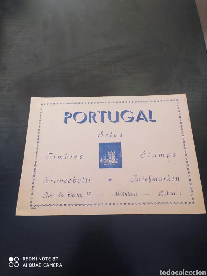 LIBRO CON SELLOS DE PORTUGAL (Sellos - Material Filatélico - Álbumes de Sellos)