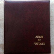 Sellos: ALBUM DE POSTALES DE 4 ANILLAS USADO - COLOR MARRON - CON 10 HOJAS - COMO NUEVO - VER 4 FOTOS. Lote 270195938