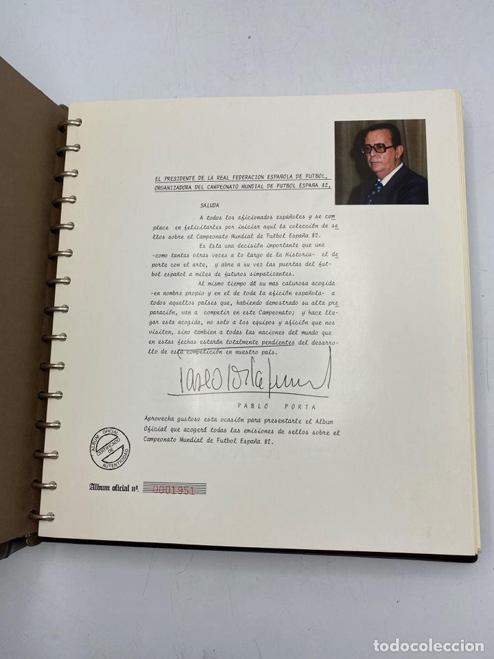 Sellos: ALBUM DE SELLOS DEL CAMPEONATO MUNDIAL DE FUTBOL ESPAÑA 82. NUEVO. PERFECTO ESTADO. VACIO. VER - Foto 4 - 275888943