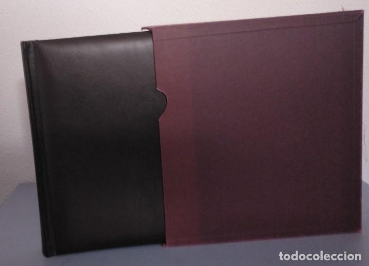 Sellos: Álbum con hojas Edifil para grupos de 4 años 1976/80 - Con protectores negros - Foto 2 - 278575208