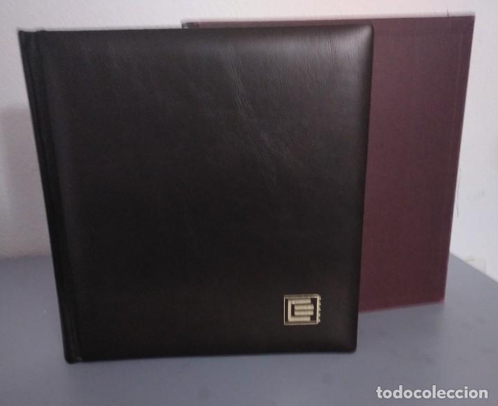 Sellos: Álbum con hojas Edifil para grupos de 4 años 1976/80 - Con protectores negros - Foto 3 - 278575208