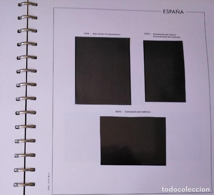 Sellos: Álbum con hojas Edifil para grupos de 4 años 1976/80 - Con protectores negros - Foto 7 - 278575208
