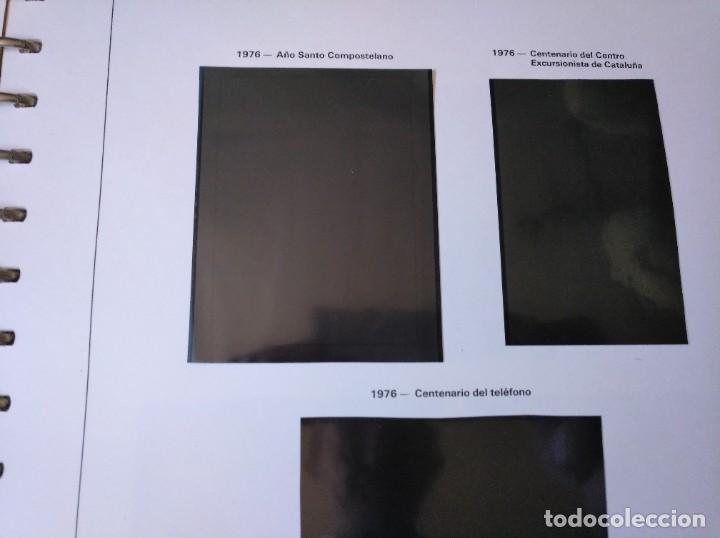 Sellos: Álbum con hojas Edifil para grupos de 4 años 1976/80 - Con protectores negros - Foto 9 - 278575208