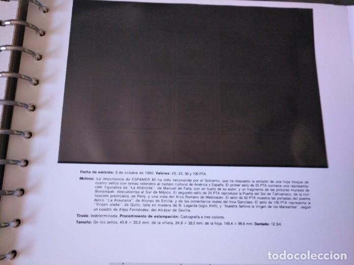 Sellos: Álbum con hojas Edifil para grupos de 4 años 1976/80 - Con protectores negros - Foto 13 - 278575208