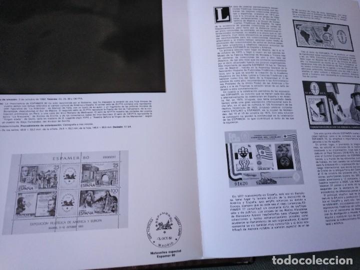 Sellos: Álbum con hojas Edifil para grupos de 4 años 1976/80 - Con protectores negros - Foto 14 - 278575208