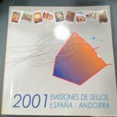 Sellos: LIBRO COMPLETO OFICIAL DE CORREOS VALORES EN EL TIEMPO 2001 ESPAÑA Y ANDORRA. Lote 290047393