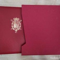 Selos: SELLOS ESPAÑA OFERTA ALBÚM ROJO EDIFIL CON CAJETIN ROJO EDICIÓN DE LUJO SIMIL PIEL. Lote 293220383