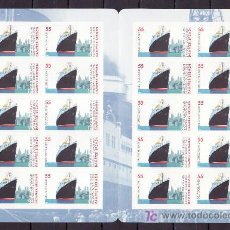 Sellos: ALEMANIA FEDERAL 2238 CARNET SIN CHARNELA, BARCO, PAQUEBOT BREMEN, . Lote 10800193