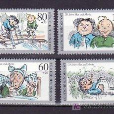 Sellos: ALEMANIA FEDERAL 1287/90 SIN CHARNELA, COMICS MAX Y MORITZ, DIBUJOS DE WILHEEM BUSCH, . Lote 11276880