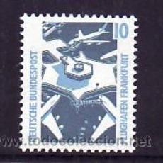 Sellos: ALEMANIA FEDERAL 1179 SIN CHARNELA, AVION, AEROPUERTO DE FRANKFURT. Lote 11288322