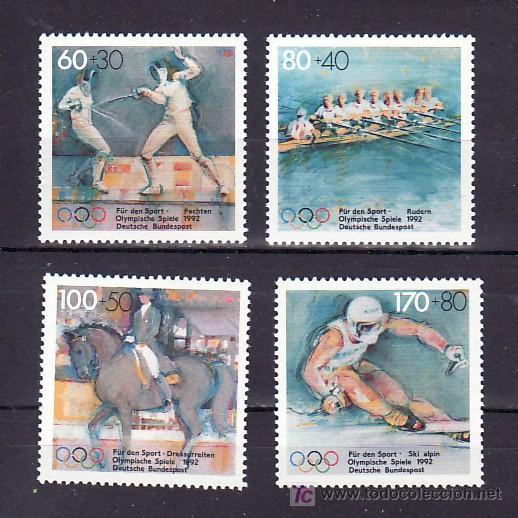 ALEMANIA FEDERAL 1419/22 SIN CHARNELA, DEPORTE, JUEGOS OLIMPICOS BARCELONA 1992, (Sellos - Extranjero - Europa - Alemania)