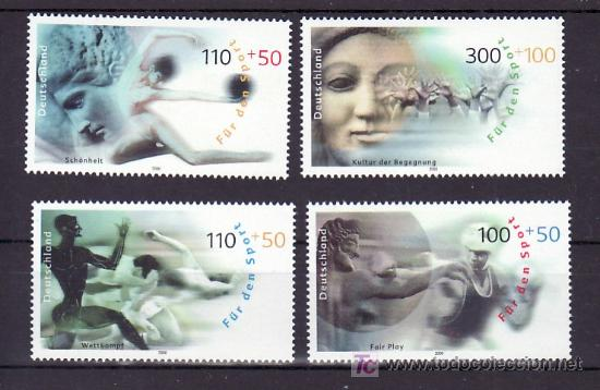 ALEMANIA FEDERAL 1926/9 SIN CHARNELA, DEPORTE, (Sellos - Extranjero - Europa - Alemania)