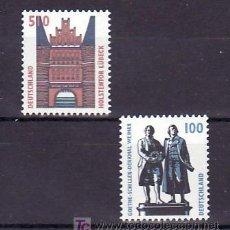 Sellos: ALEMANIA FEDERAL 1771/2 SIN CHARNELA, MONUMENTO A GOETHE Y SCHILLER, PUERTA HOLSTENTOR EN LUBECK, . Lote 11305806