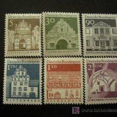 Sellos: ALEMANIA FEDERAL 1966 IVERT 357/62 *** MONUMENTOS. Lote 42393226