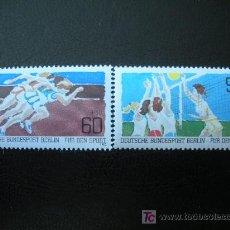 Sellos: BERLIN 1982 IVERT 625/26 *** POR LA JUVENTUD - DEPORTES COLECTIVOS. Lote 12607059