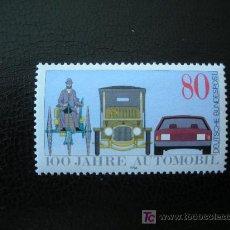Sellos: ALEMANIA FEDERAL 1986 IVERT 1100 *** CENTENARIO DEL AUTOMOVIL - COCHES ANTIGUOS Y MODERNOS. Lote 12614062