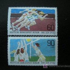 Sellos: BERLIN 1982 IVERT 625/26 *** POR LA JUVENTUD - DEPORTES COLECTIVOS. Lote 12999872