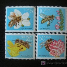 Timbres: ALEMANIA ORIENTAL DDR 1990 IVERT 2900/3 *** FAUNA - INSECTOS - ABEJAS - APICULTURA. Lote 149826777