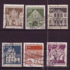 Sellos: ALEMANIA 357/62 - AÑO 1966 - EDIFICIOS HISTÓRICOS. Lote 14598741