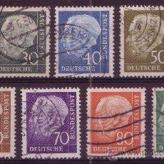 Sellos: ALEMANIA 125A/28B - AÑO 1957 - PRESIDENTE THEDORE HEUSS. Lote 15153615