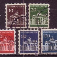Sellos: ALEMANIA 368/71A - AÑO 1966 - PUERTA DE BRANDEBURGO. Lote 15183029