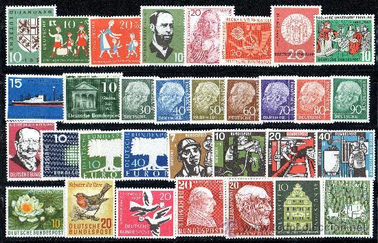 ALEMANIA FEDERAL AÑO 1957 YV 125/51*** AÑO COMPLETO NUEVO (Sellos - Extranjero - Europa - Alemania)