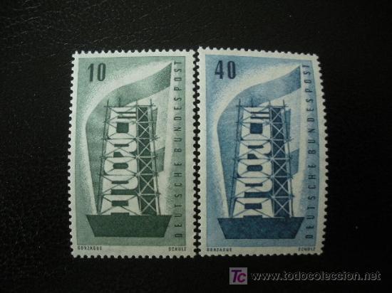 ALEMANIA FEDERAL 1956 YVERT 117/18 *** EUROPA (Sellos - Extranjero - Europa - Alemania)