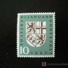 Sellos: ALEMANIA FEDERAL 1957 YVERT 125 *** REINCORPORACION POLITICA DE LA SARRE. Lote 15854190